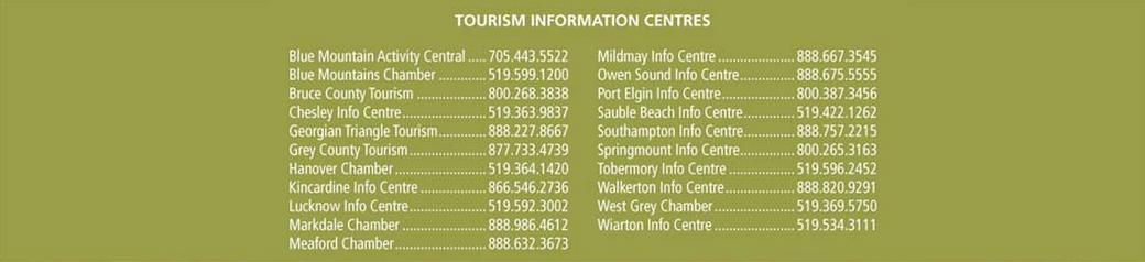 Grey Bruce Tourism Centres